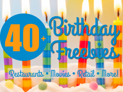 Way before your birthday rolls around, sign up for these birthday freebies so you can enjoy frugal fun on your birthday!