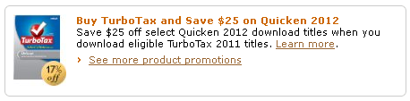 Amazon Quicken-Turbo Tax Promo