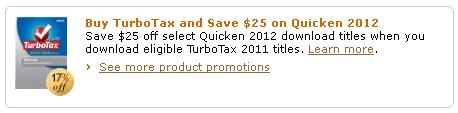 Amazon Quicken-Turbo Tax Promo