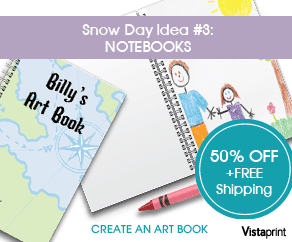 Vistaprint Snow Day Notebook