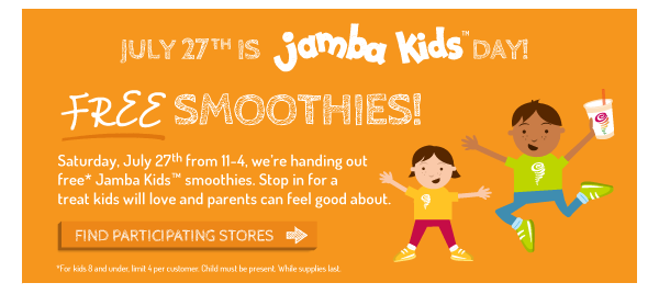Free Jamba Juice Smoothie