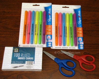 Walgreens school supplies week of 7/29/12