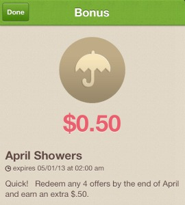Ibotta April Showers Bonus