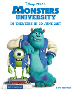 Monsters University free ticket offer