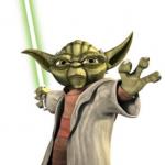 Yoda wall decal