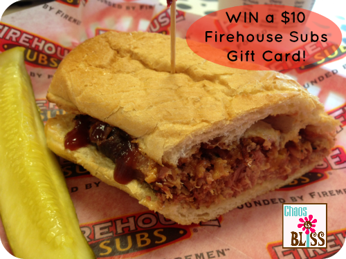Firehouse $10 Gift Card Giveaway