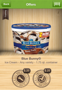 Ibotta Blue Bunny offer