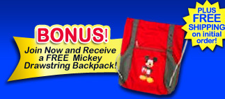 Mickey Drawstring Backpack