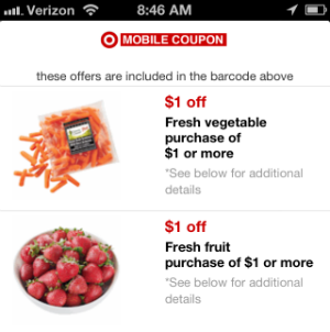 Target produce mobile coupon