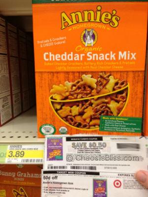 Annies Organic Cheddar Snack Mix