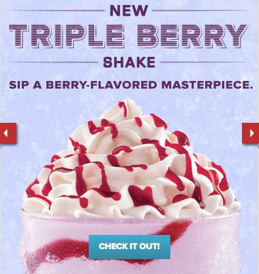 Arby's Triple Berry Shake