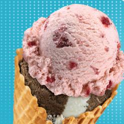 Baskin Robbins free waffle cone