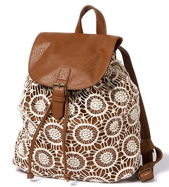 Claires Crochet Backpack