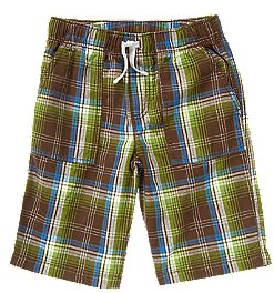 Crazy 8 Drawstring Plaid Short