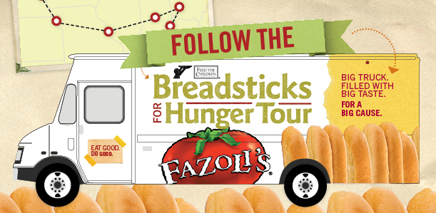 Fazoli's Breadsticks for Hunger Tour