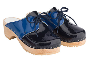 Hanna Andersson Navy Patent Clogs