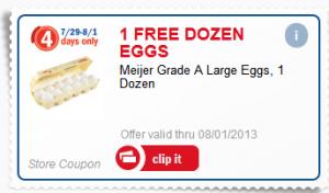 Meijer Free Eggs Coupon