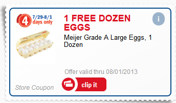 Meijer Free Eggs Coupon