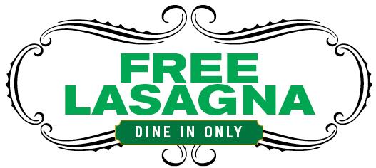 Buca di Beppo Free Lasagna