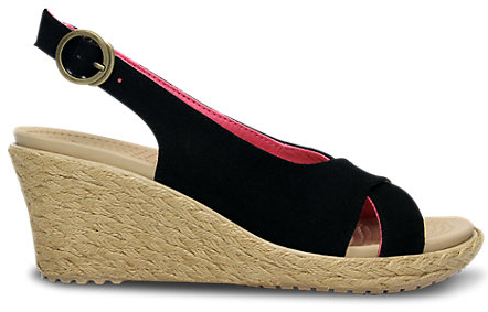 Crocs A-Leigh Linen Wedge