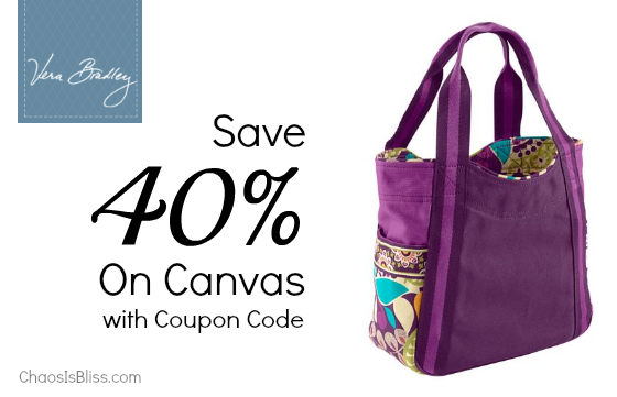 Vera Bradley Canvas coupon code