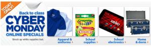 Walmart Back-to-School Cyber Monday