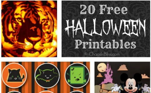Halloween Printable Collage slider