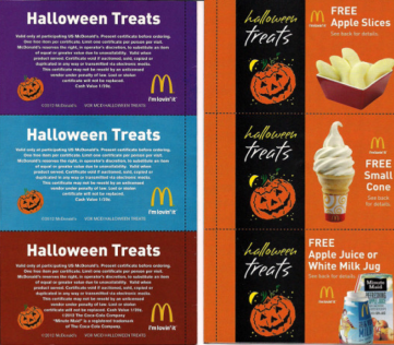McDonalds Halloween coupons