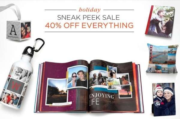 Shutterfly Holiday sneak peek