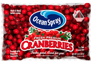 Save $1.00 on Ocean Spray Cranberries via Facebook