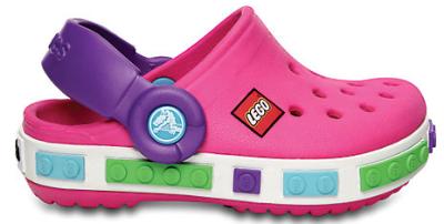 Crocs Lego pink