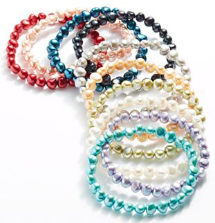 Kohls Dyed Pearl Bracelet