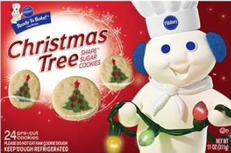 Pillsbury Christmas Tree cookie dough