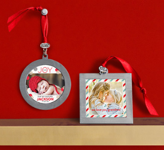 Tiny Prints photo ornaments