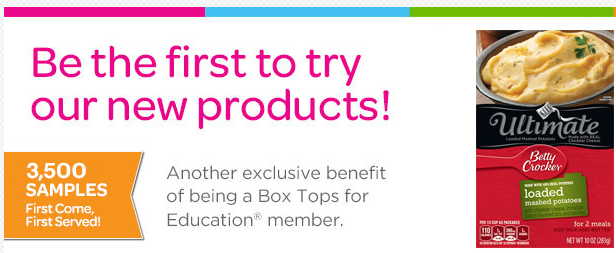 Box Tops for Education | Betty Crocker Potatoes Free Sample