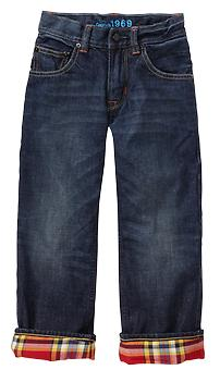 Gap Flannel-lined slouch jeans