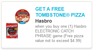 FREE Tombstone Pizza with Purchase of Hasbro Catch Phrase