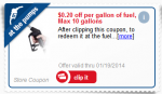 MPerks gas coupon