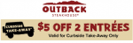 Outback Curbside coupon