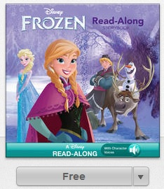 Disney Frozen iTunes book
