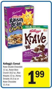 Kelloggs Cereal Meijer Sale
