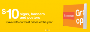 Staples $10 banners