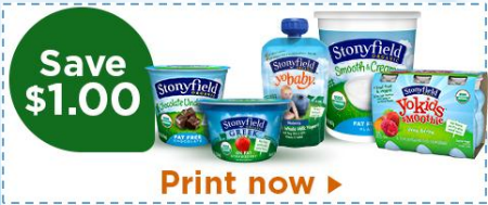 Save $1.00 on Organic Yogurt with Stonyfield Coupon