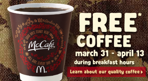 Friday Freebies on B105.7: McDonald's Free Coffee + More