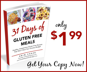 31 Days of Gluten Free Meals eCookbook only $1.99