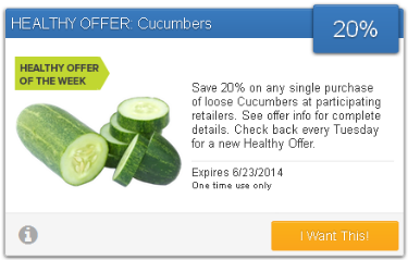 Save on cucumbers