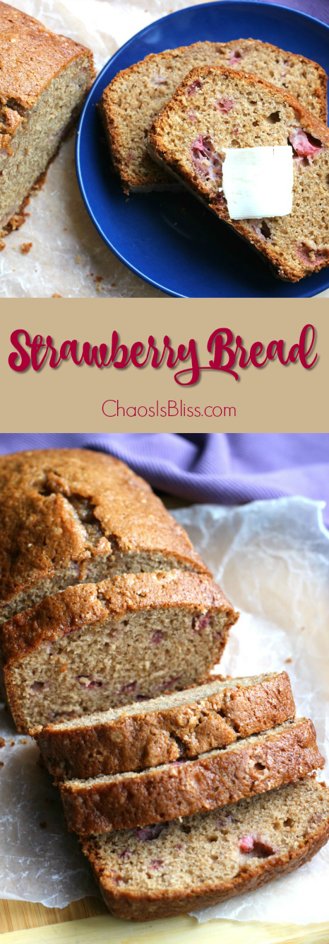 Strawberry Bread is a favorite breakfast bread using fresh or frozen strawberries. It's super easy to make, and so yummy!