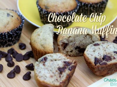Need to use overripe bananas? Here's an easy Chocolate Chip Banana Muffins recipe your family will love!