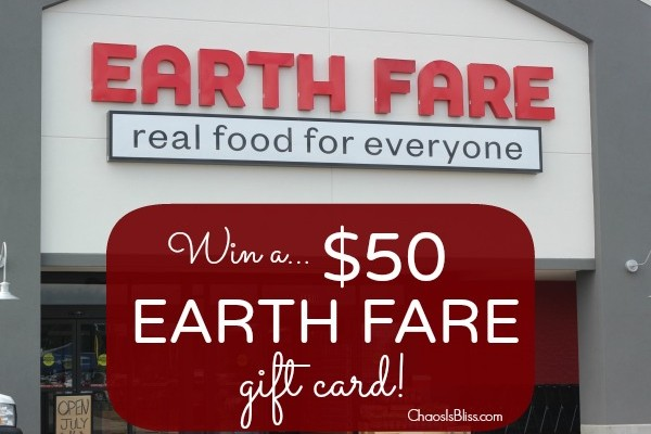Giveaway Reminder | Earth Fare $50 Gift Card *Ends 7/31*