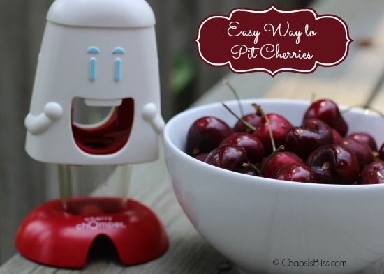 Easy way to pit cherries